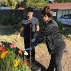 Ribet Academy Students came by on Sat. April 21 for some Earth Day Volunteering!